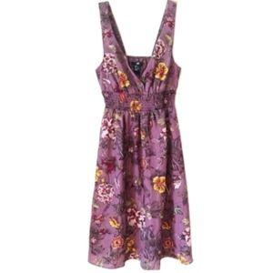 H&M Purple Floral Midi Sundress